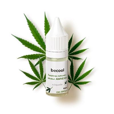 Becool e-liquide arôme Amnesia 300mg isolat pure CBD