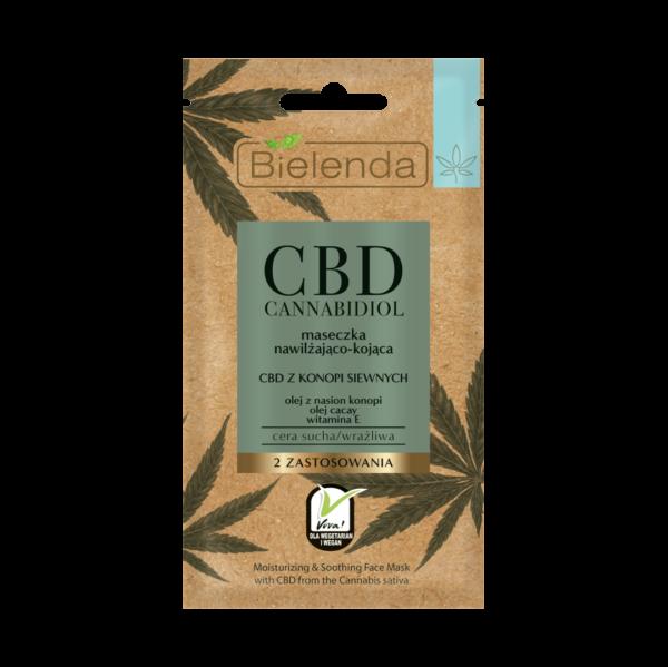 Masque au CBD hydratant-apaisant pour peaux sèches / sensibles (Lot de 5)